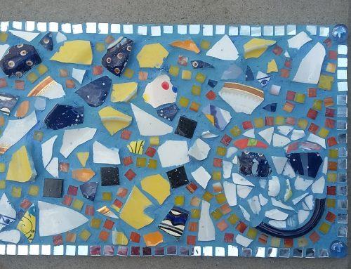 Mosaikschilder